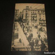 Postales: GERONA PUENTE DE ISABEL II Y CALLE DEL PROGRESO. Lote 140492354