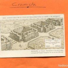 Postales: OBRA INMOBILIARIA DE LA ' CAJA DE PENSIONES PARA LA VEJEZ Y DE AHORROS / NO. CIR. // ( NOV2018-3 ). Lote 140501670