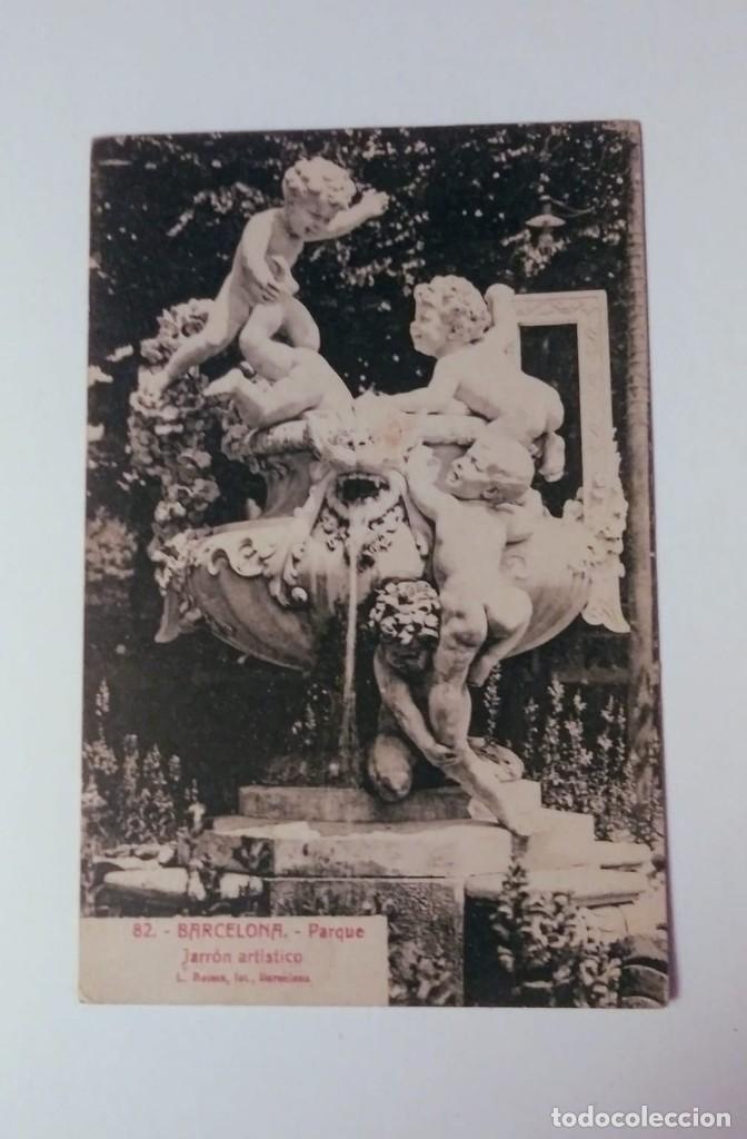 BARCELONA PARQUE - JARRÓN ARTÍSTICO (Postales - España - Cataluña Antigua (hasta 1939))