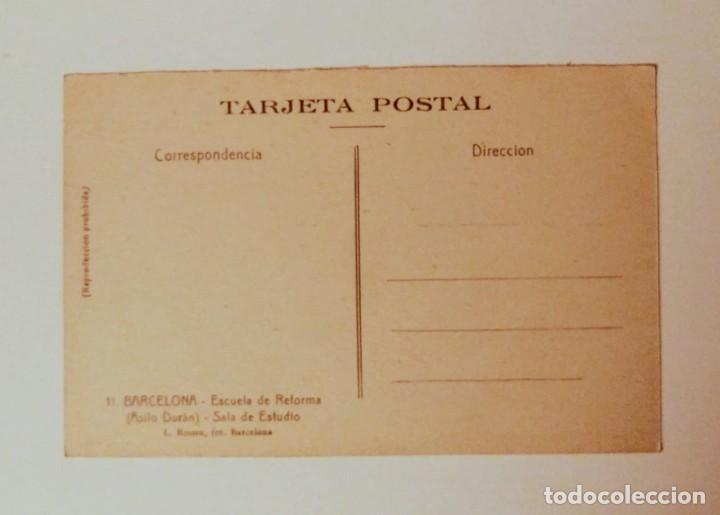 Postales: Barcelona Escuela de reforma (Asilo Durán) Salón de estudio - Foto 2 - 140780886