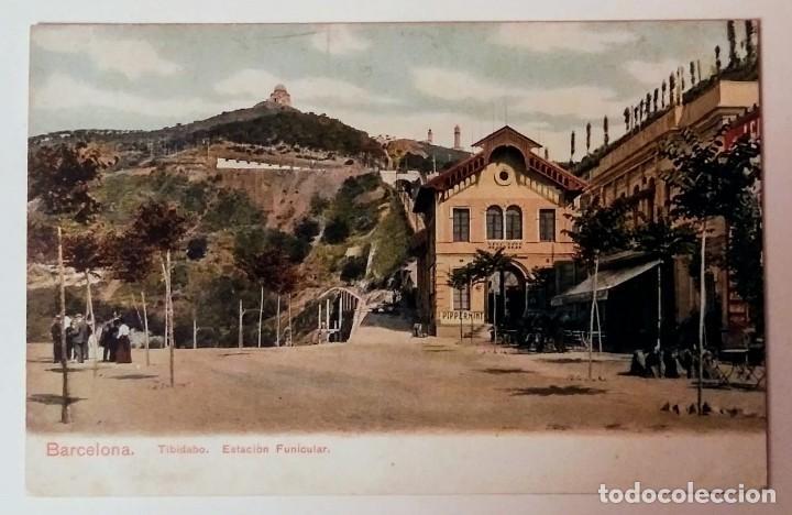 BARCELONA TIBIDABO ESTACIÓN DEL FUNICULAR (Postales - España - Cataluña Antigua (hasta 1939))
