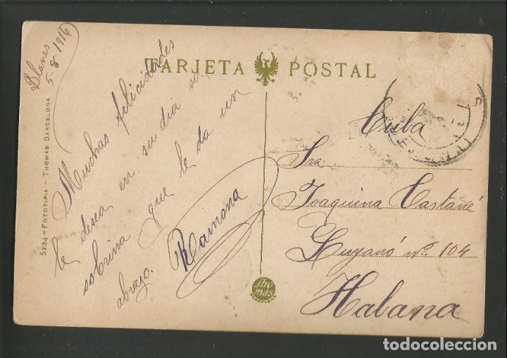 Postales: BLANES - RIERA I FONT DE LA CREU - 2 - THOMAS - POSTAL ANTIGA-(54.396) - Foto 2 - 140791346