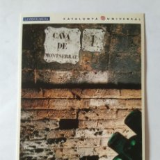 Postales: ANTIGUA POSTAL LA VANGUARDIA CATALUNYA UNIVERSAL AÑOS 90: CAVA MONTSERRAT, CODORNIU (10'2 X 14'8 CM). Lote 140808630