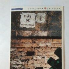 Postales: ANTIGUA POSTAL LA VANGUARDIA CATALUNYA UNIVERSAL AÑOS 90: CAVA MONTSERRAT, CODORNIU (10'2 X 14'8 CM). Lote 140808670