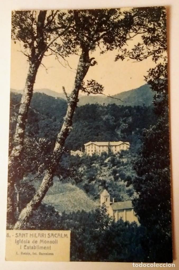 SANT HILARI DE SACALM IGLÉSIA DE MOSOLL I ESTABLIMENT ESGLÉSIA DE MOSOLL (Postales - España - Cataluña Antigua (hasta 1939))