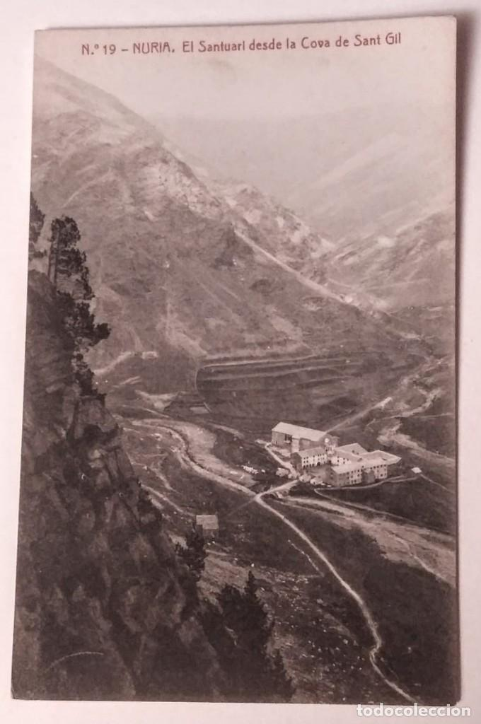 NURIA EL SANTUARI DESDE LA COVA DE SANT GIL (Postales - España - Cataluña Antigua (hasta 1939))