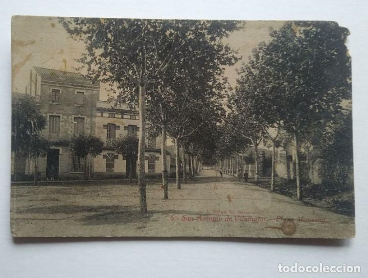 SANT ANTONI DE VILAMAJOR PLAÇA MONTSENY SAN ANTONIO DE VILAMAJOR PLAZA MONTSENY (Postales - España - Cataluña Antigua (hasta 1939))
