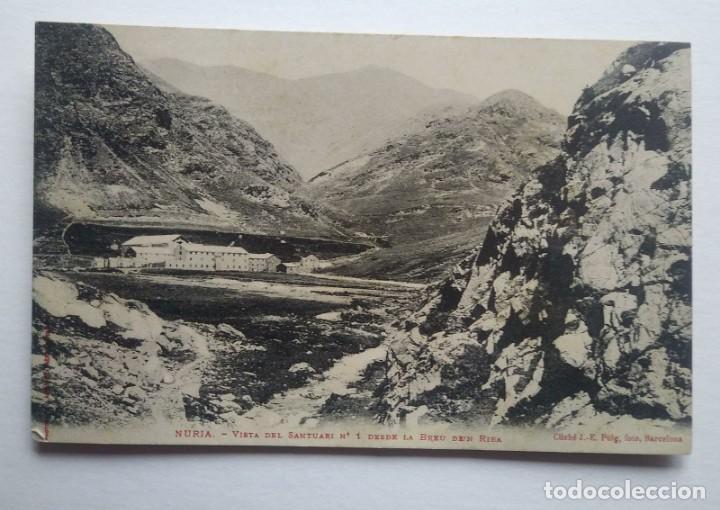 NURIA VISTA DEL SANTUARI DESDE LA BREU DE'N RIBA (Postales - España - Cataluña Antigua (hasta 1939))