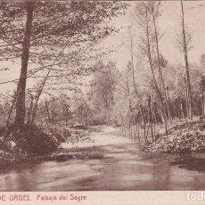 Postales: SEO DE URGEL, PAISAJE DEL SEGRE, LERIDA. Lote 140879854