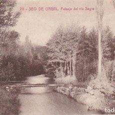 Postales: SEO DE URGEL, PAISAJE DEL RIO SEGRE, LERIDA. Lote 140879906