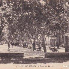 Postales: SEO DE URGEL, PASEO DE TETUAN, LERIDA. Lote 140879966