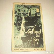 Postales: SAN MIGUEL DEL FAY . 18 POSTALES DOBLE TONO AZUL , SERIE 1 . ROISIN. Lote 140899478