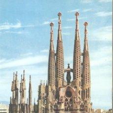 Postales: BARCELONA, SAGRADA FAMILIA,FOTO ZERKOWITZ, CIRCULADA CON 2 SELLOS. Lote 141579382