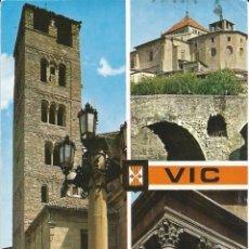 Postales: [POSTAL] DIVERSAS VISTAS. VIC (BARCELONA) (CIRCULADA). Lote 141614382