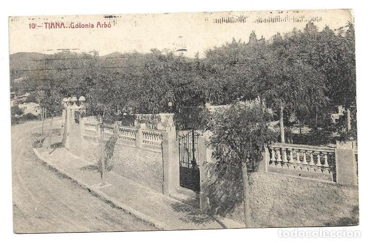 TIANA Nº 10 COLONIA ARBÓ .- FOTOTIPIA THOMAS (Postales - España - Cataluña Antigua (hasta 1939))