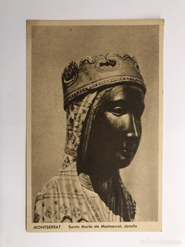 MONTSERRAT (BARCELONA) POSTAL. SANTA MARIA DE MONTSERRAT. DETALLE. EDITA : HUECOGRABADO RIEUSSET (Postales - España - Cataluña Antigua (hasta 1939))