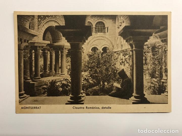 MONTSERRAT (BARCELONA) POSTAL. MONTSERRAT. CLAUSTRO ROMÁNICO DETALLE EDITA : HUECOGRABADO RIEUSSET (Postales - España - Cataluña Antigua (hasta 1939))