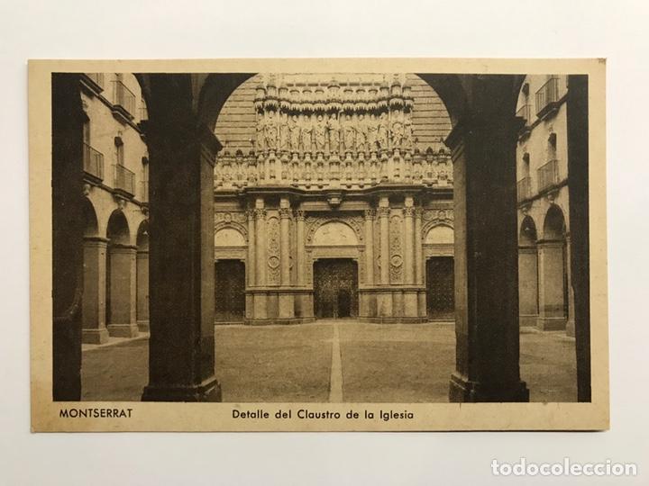 MONTSERRAT (BARCELONA) POSTAL. DETALLE DEL CLAUSTRO DE LA IGLESIA. EDITA : HUECOGRABADO RIEUSSET (Postales - España - Cataluña Antigua (hasta 1939))