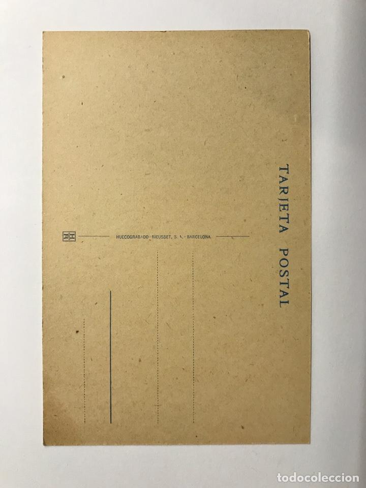 Postales: MONTSERRAT (Barcelona) Postal. Detalle del Claustro de la Iglesia. Edita : Huecograbado Rieusset - Foto 2 - 142720412