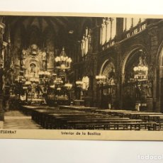 Postales: MONTSERRAT (BARCELONA) POSTAL. INTERIOR DE LA BASÍLICA . EDITA : HUECOGRABADO RIEUSSET. Lote 142721044