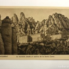 Postales: MONTSERRAT (BARCELONA) POSTAL. LA MONTAÑA DESDE LA SANTA CUEVA EDITA : HUECOGRABADO RIEUSSET. Lote 142721456