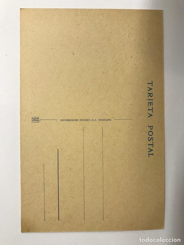Postales: MONTSERRAT (Barcelona) Postal. Les Agulles Edita : Huecograbado Rieusset (h.1920?) - Foto 2 - 142722457