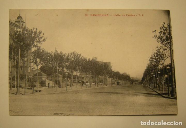 POSTAL DE BARCELONA - CALLE DE CORTES - TT. FOTOTIPIA A. THIRIAT - BARCELONA (Postales - España - Cataluña Antigua (hasta 1939))