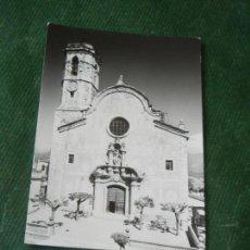 Postales: ANTIGUA POSTAL SAN CELONI - BARCELONA - IGLESIA PARROQUIAL - BILBENY FOTO ALFONSO. Lote 143037506