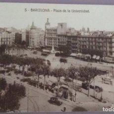 Postales: POSTAL 5. BARCELONA. PLAZA DE LA UNIVERSIDAD . Lote 143110846