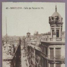 Postales: POSTAL 40. BARCELONA. CALLE DE FERNANDO VII. Lote 143113866