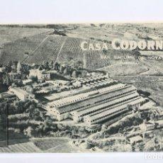 Postales: CARPETA / BLOC DE 10 POSTALES - CAVAS CASA CODORNIU / SAN SADURNÍ DE NOYA - SIN CIRCULAR. Lote 143288610