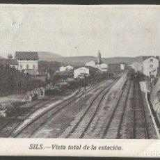 Postales: SILS-ESTACION DEL FERROCARRIL-POSTAL ANTIGA-(55.189). Lote 143471850