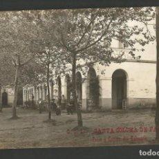 Postales: SANTA COLOMA DE FARNES-PATIO Y CAPILLA DEL BALNEARIO-C.O.17-POSTAL ANTIGA-(55.209). Lote 143488270