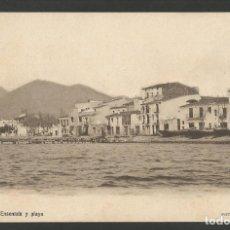 Postales: ROSAS-CALLE DE LA ENSENADA Y PLAYA-FOT·B.FONOLLERAS-REVERSO SIN DIVIDIR-POSTAL ANTIGA-(55.218). Lote 143499414