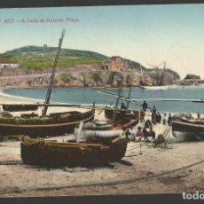 Postales: SANT FELIU DE GUIXOLS-PLAYA-A.T.V. 3072-POSTAL ANTIGA-(55.224). Lote 143524902