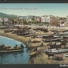Postales: SANT FELIU DE GUIXOLS-TRAFICO DEL PUERTO-A.T.V. 3076-POSTAL ANTIGA-(55.227). Lote 143525938