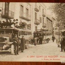 Postales: POSTAL SANT QUINTI DE MEDIONA, PARADA D'AUTOMOVILS, N. 6. ED. L. ROISIN. NO CIRCULADA.. Lote 143539970