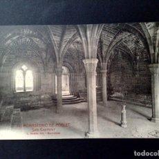 Postales: TARJETA POSTAL Nº13 DEL MONASTERIO DE POBLET-SALA CAPITULAR DE L.ROISIN-SIN CIRCULAR.. Lote 143575394