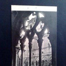 Postales: TARJETA POSTAL Nº16 DEL MONASTERIO DE POBLET-DETALLE DEL CLAUSTRO DE L.ROISIN-SIN CIRCULAR.. Lote 143576370