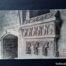Postales: TARJETA POSTAL Nº19 DEL MONASTERIO DE POBLET-SEPULTURA DENTRO CLAUSTRO DE L.ROISIN-SIN CIRCULAR.. Lote 143577038