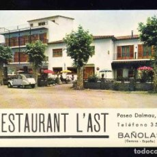 Postales: POSTAL DE BANYOLES: RESTAURANT L' AST. CITROEN 2 CV (2CV) (FOTOCOLOR VALMAN). Lote 143655854