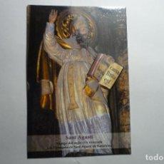 Postales: POSTAL -TARJETA BARCELONA PARROQUIA SAN AGUSTIN - IMAGEN. Lote 143837754