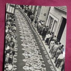 Postales: TARJETA POSTAL. SITGES. 7. CORPUS. ALFOMBRAS DE FLORES. FOTO R.GASSO. Lote 143839642