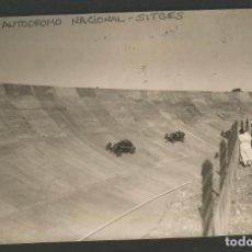 Postales: SITGES-AUTODROMO NACIONAL-FOTOGRAFICA-POSTAL ANTIGUA-(55.318). Lote 144038330