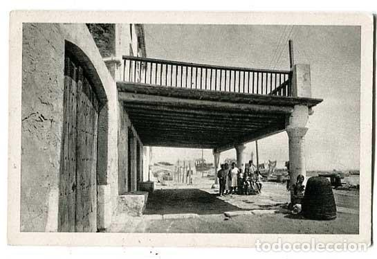 BARCELONA VILANOVA I GELTRU CASAS DE PESCADORS AL TRAJO DE LLEVANT. ED. INST. GRAFIC OLIVA (Postales - España - Cataluña Antigua (hasta 1939))