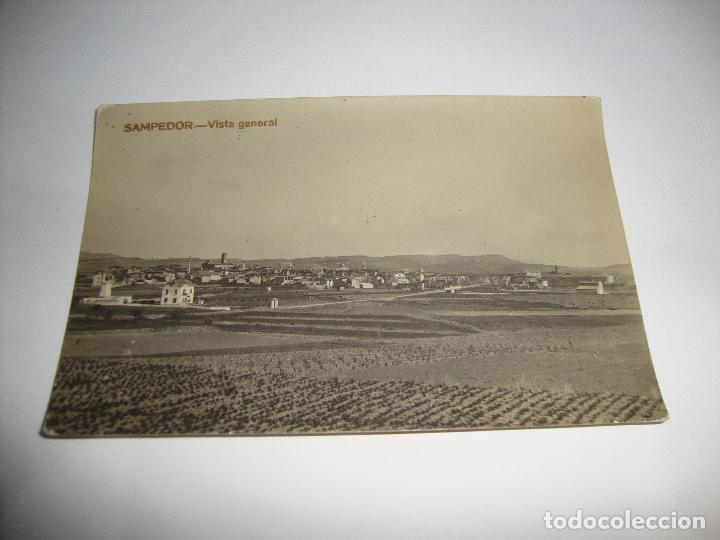 (ALB-TC-40) INTERESANTE POSTAL SAMPEDOR VISTA GENERAL CIRCULADA SIN SELLO (Postales - España - Cataluña Antigua (hasta 1939))