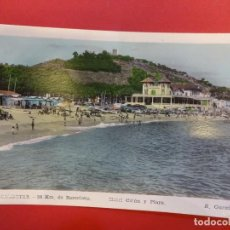 Postales: CALDETAS 38 KM. DE BARCELONA. HOTEL COLON Y PLAYA. Lote 144355166