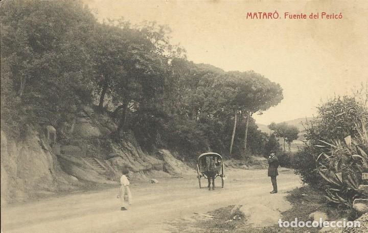 POSTAL DE MATARÓ FUENTE DEL PERICÓ. EDICIÓN ABADAL. NO CIRCULADA. TARJETA POSTAL. FOTOTIPIA THOMAS. (Postales - España - Cataluña Antigua (hasta 1939))