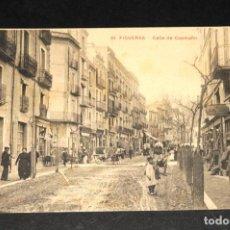 Postales: TARJETA POSTAL DE FIGUERAS - CALLE DE CAAMAÑO - SIN CIRCULAR - PARTIDA. Lote 145256482