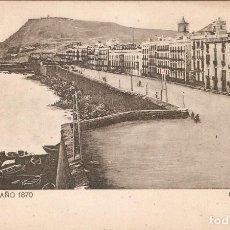 Postales: BARCELONA, AÑO 1870 MURALLA DE MAR SAMSOT Y MISSÉ HNOS. S. CIR.. Lote 145591130